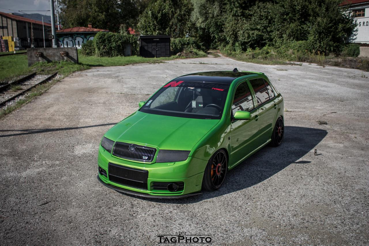 Java Green Fabia RS na pružinách